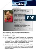 [Philippine Elections 2010] Gordon, Richard Profile