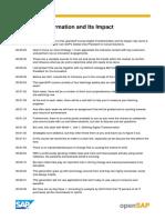 OpenSAP Dit1 Week 1 Transcript
