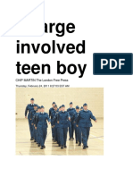 24 Feb 2011 - Sex Charge Involved Teen Boy