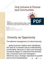 Supporting Inclusive & Diverse Workplace Communities