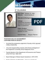 [Philippine Elections 2010] Villanueva, Eddie Profile