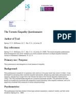 scoring guide toronto empathy questionnaire   measurement instrument database for the social sciences