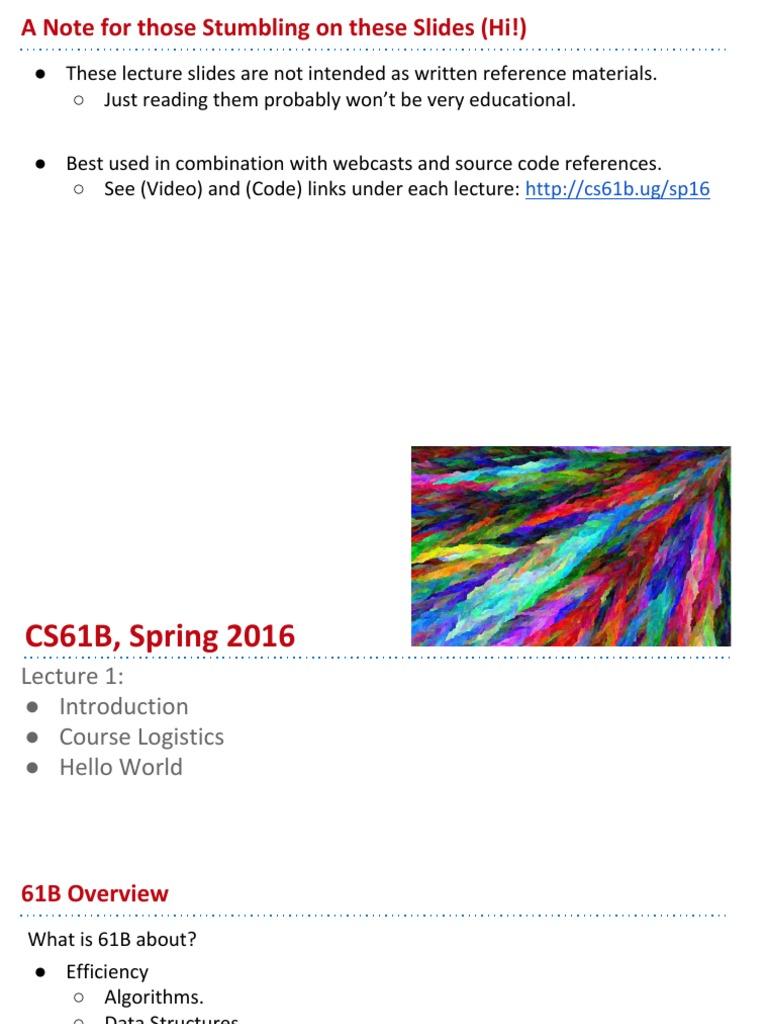 cs61b homework 1