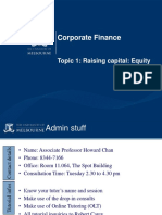 Corporate Finance - Raising Equity - unimelb