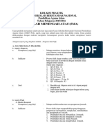 Kisi-Kisi UASBN PAI SMA 2015-2016 Kurikulum 2013