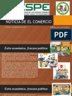 Noticia de El Comercio 01-08-2015