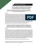 Efektivitas Magnesium Sulfat 30 MgkgBB Intravena Dibanding Dengan Fentanil 2 McgkgBB Intravena Dalam Menekan Respons Kardiovaskular Pada Tindakan Laringoskopi Dan Intubasi
