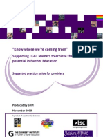 Know Where We'Re Coming From - A Suggested Practice Guide for FE Providers