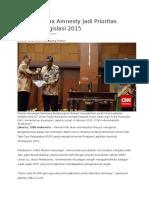 Kebijakan Tax Amnesty Jadi Prioritas Program Legislasi 2015