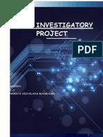 Physics investigatory project on physics
