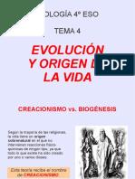 Evolucion y Origen de La Vida