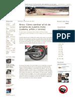 Brico_ Cómo Cambiar El Kit de Arrastre de Nuestra Moto (Cadena, Piñón y Corona) _ La Aventura Es La Aventura