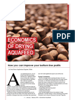 Economics of drying aquafeed