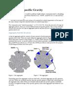 Specific Gravity of Coarse Aggregate & FINE AGGREGATE
