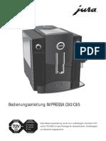Bedinungsanleitung Jura Impressa c60 c65