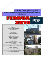 Newcastle Parish News Wicklow, Ireland Feb 2016