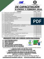 Cursos Cast Tijuana Ene Feb 2016