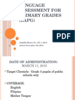 Language Assessment for Primary Grades (LAPG)-Feb 2015