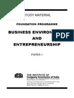 Business Environment and Entrepreneurship