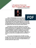 False Prophet Check List!