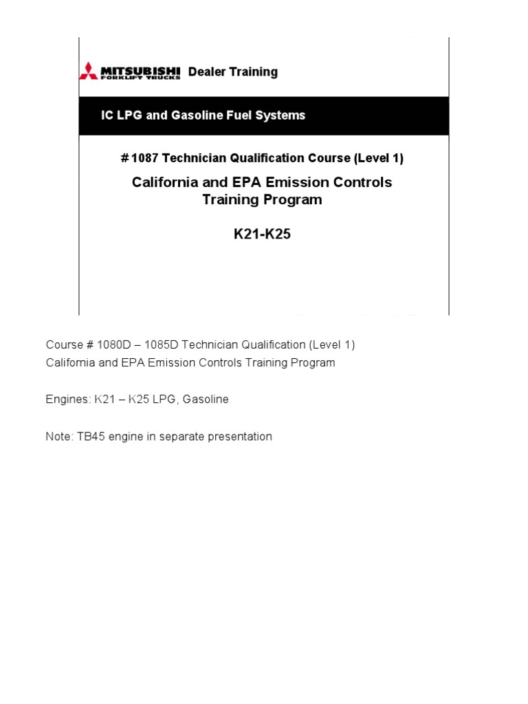 1087 CA & EPA Emission Control K21-K25 Training Notes Pages | Fuel K Engine Wiring Diagram Google on