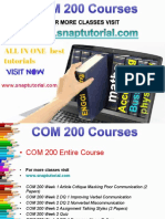 COM 200 Academic Success/snaptutorial