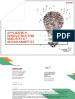 Applications, Innovation and Maturity of Analytics in India