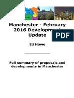 Manchester February 2016 Development Update
