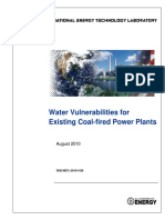Water Vulnerabilities for Existing Coal Fired Plants