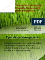DSS in Green Operational Management
