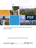 Land Tenure Security in Selected Countries