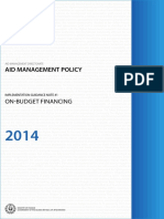 Guidance Note 1 - On-budget Financing