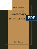 Cultural Psychology Theory and Method
