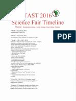 science fair timeline