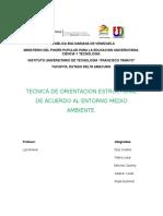 Tecnica de Orientacion Estructural de Acuerdo Al Entorno Medio Ambiente