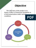 Study of Effect of Potassium Bisulphite as a Food Preservative Copy