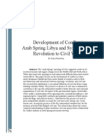 7367-V-Development of Conflict in Arab Spring Libya and Syria From Revolution to Civil War