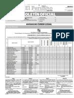 Diario Oficial El Peruano, Edición 9225. 30 de enero de 2016