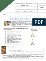 Ficha de Trabalho - Algoritmo de Euclides - 5ano
