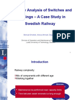 Reliability Analysis of Switches and Crossings 2013 v1.4