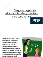 El Régimen Legal de La Educación