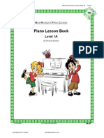 Piano Lesson Book 1A