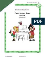 Piano Lesson Book 1A