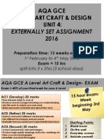 alevel art exam ppt 2016