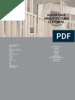 Lobos, j. - Hacia Una Arquitectura Cultural