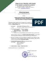 Jadwal Daftar Ulang APT FF UBAYA 50 _September 2015