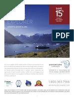 Arctic Explorer 15% flyer