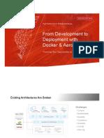Docker WebinarFrom Development to Deployment with Docker and Aerospike