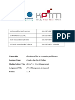 Cost Management Assignment