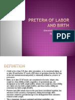 PRETERM OF LABOR AND BIRTH.ppt